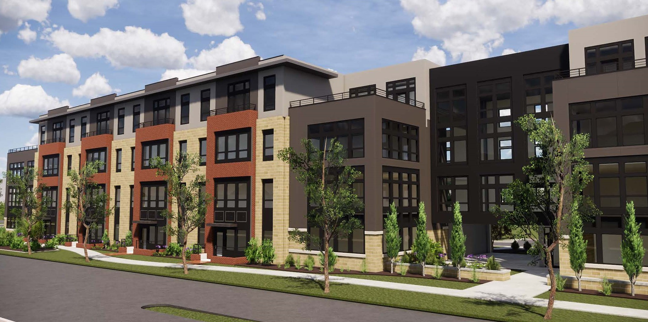 Etna Road Apartments workforce housing. Renderings by Karrick Sherrill, VP Urban Architecture Studio, Shremshock Architects.
