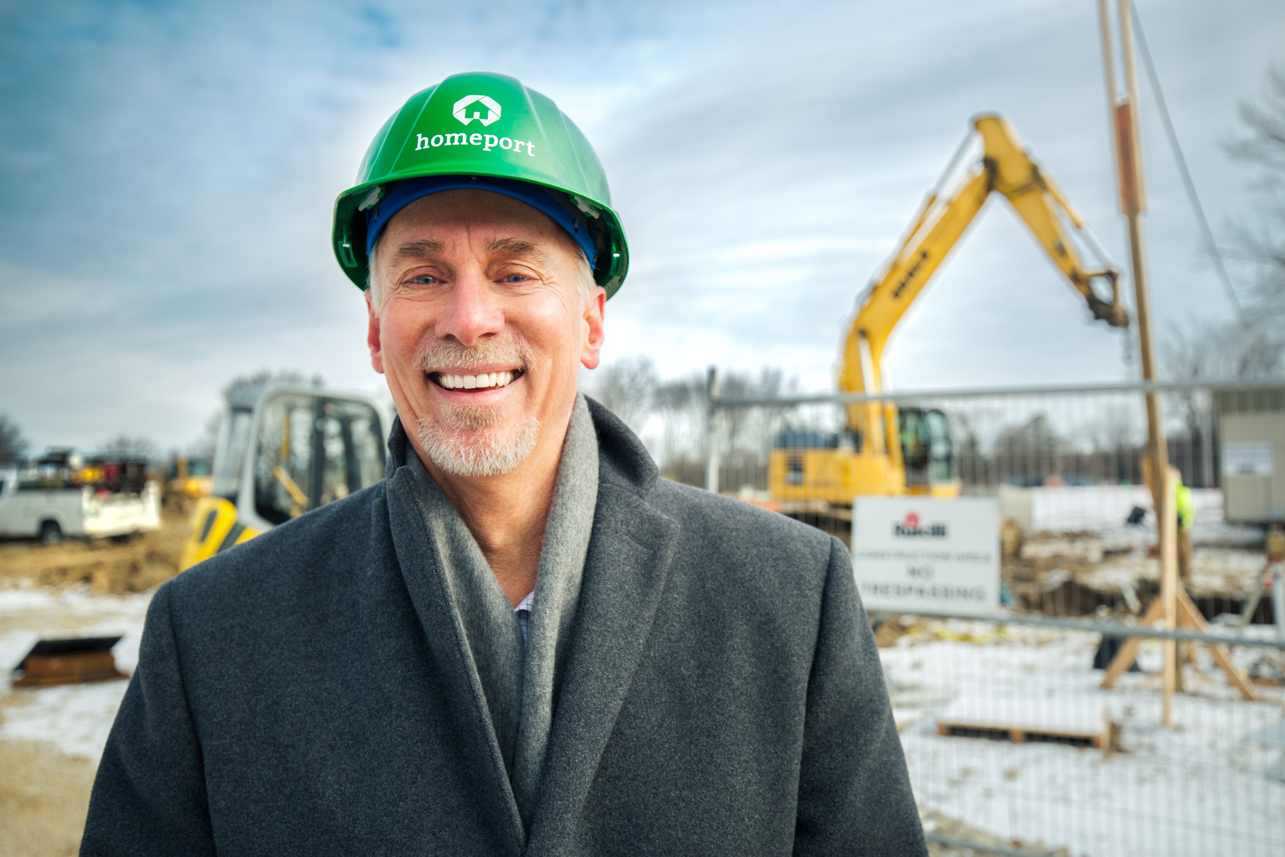 Mark McCullough, AEP Executive Vice President, Transmission, at construction site of Homeport's Blacklick Crossing development in Reynoldsburg. Photos by Caitlin Sadler/AEP.