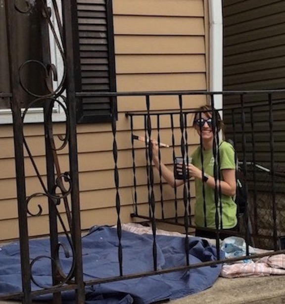 Natalie helped paint a home in Milo-Grogan for Realtor Care Day in 2018.