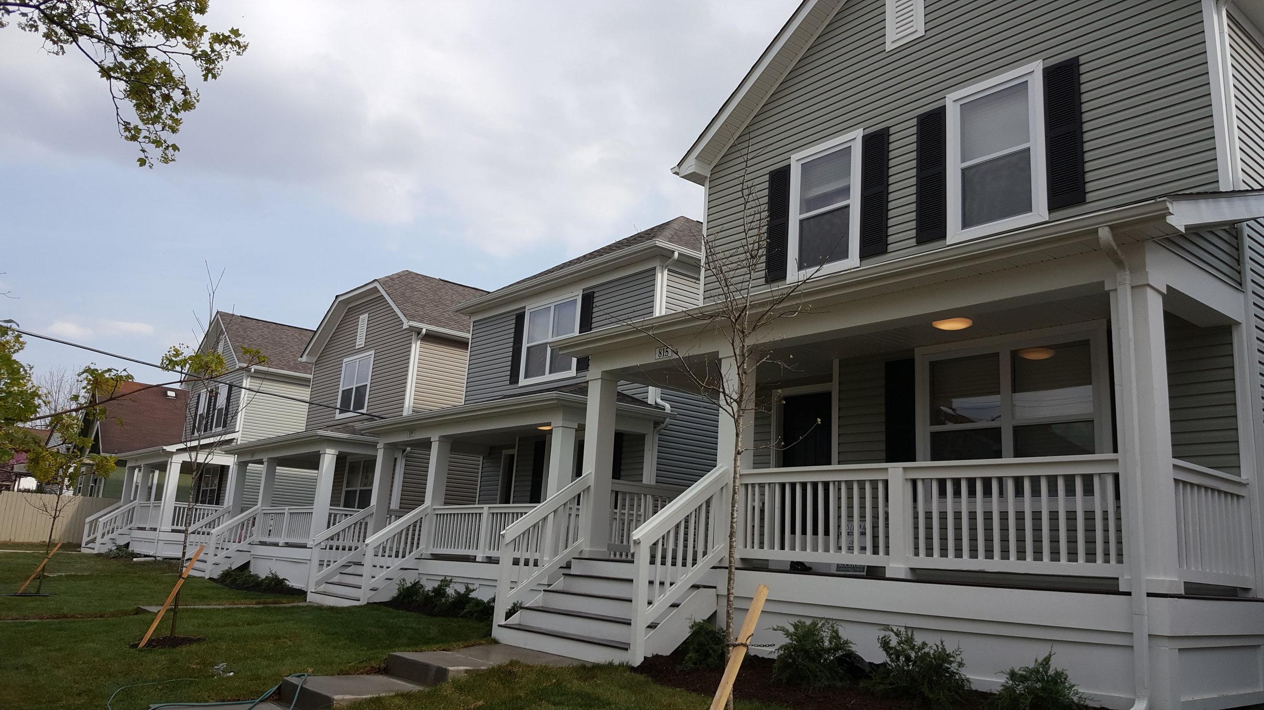 Homes built by Homeport in 2018 in Milo-Grogan
