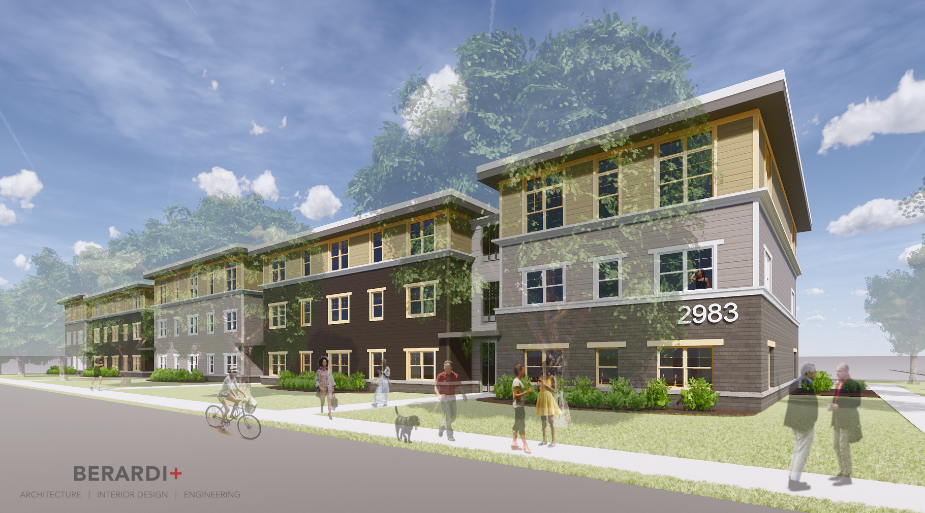 Early rendering of Kenlawn Place.