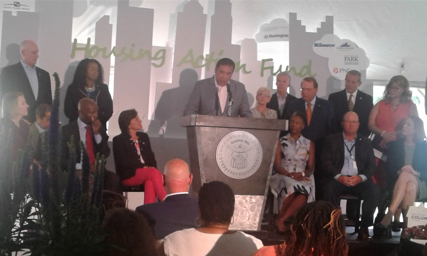 Columbus Mayor Andrew J. Ginther at 'Housing Action Fund' announcement.