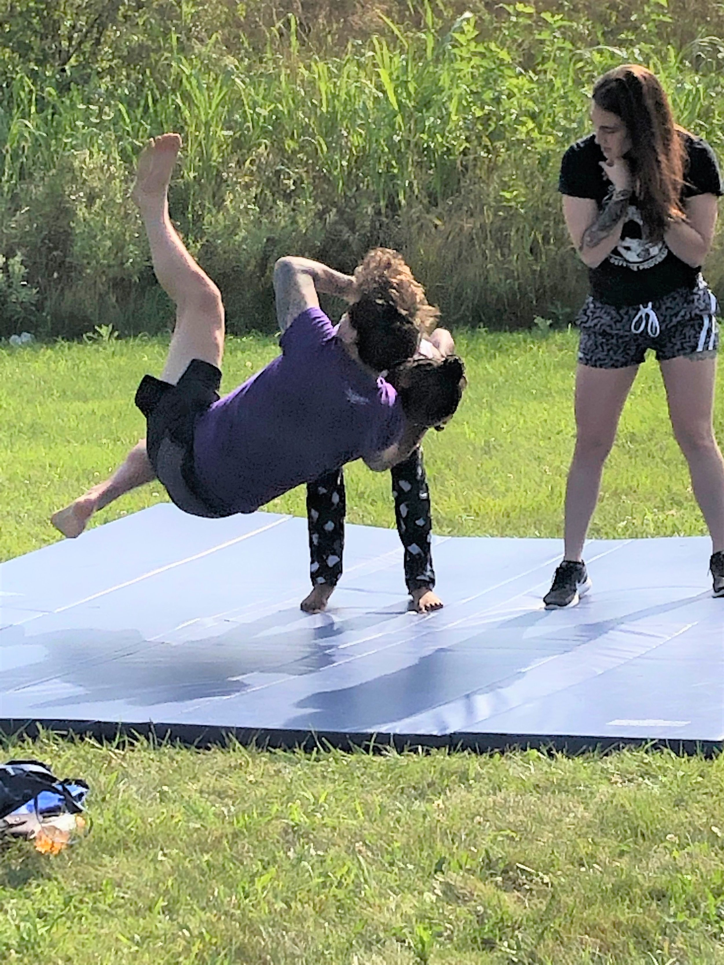 Columbus State Community College provided a self defense demonstration as part of a Community Resource Fair at Homeport's Georges Creek community on July 24. Scores of residents met with multiple vendors ranging from health care to resume writing.