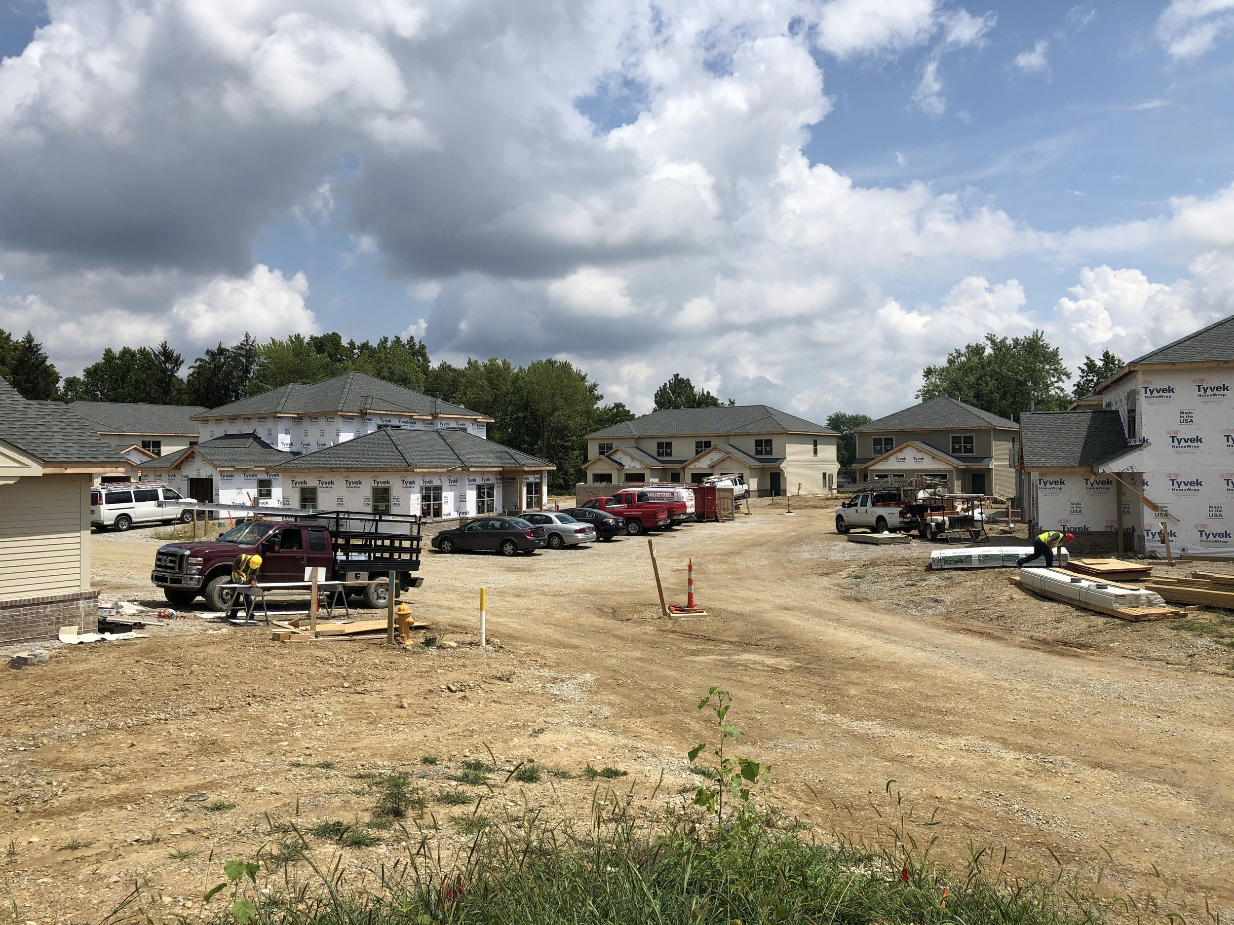 Construction of Blacklick Crossing in Reynoldsburg is coming along, with completion of the 30-unit Homeport development expected the beginning of 2020. Some residents could begin moving in as early as November.