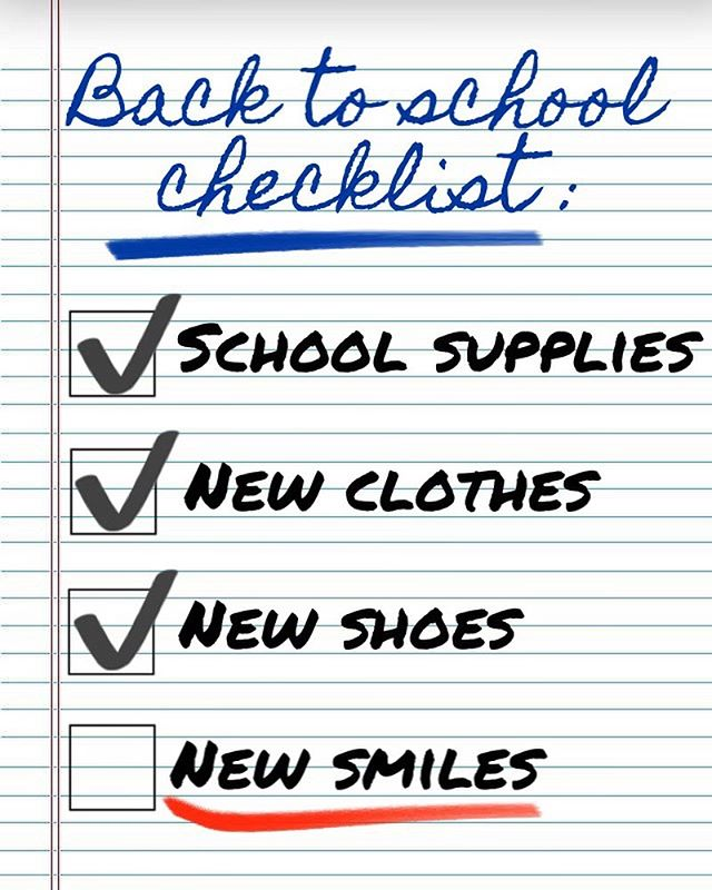 "It's almost that time of year... 📚🐛 . . 🍎 School is almost in session, but before you head back to the classroom, get your orthodontic checkup crossed off your ""to-do""list! 📝 . . This summer, for the first time EVER, we're offering $350 off your orthodontic treatment! 💵 That's $350 you can use to buy new shoes 👟, clothes 👚👕👖, and those super awesome colorful pens you've been eyeing! 🗒🖊 Honestly, who wouldn't want save money for that?? 🤗 . . 🏃🏻‍♀️🏃🏻‍♂️ Hurry this offer is only valid until the end of August! Please mention this offer when calling tro schedule your complimentary consultation. We look forward to speaking with you! ☎️ . . .  #goldebergorthodontics #goldenbergortho #braces #orthodontics #Georgetownorthodontics #orthodontistgeorgetown #georgetownbraces #backtoschool"
