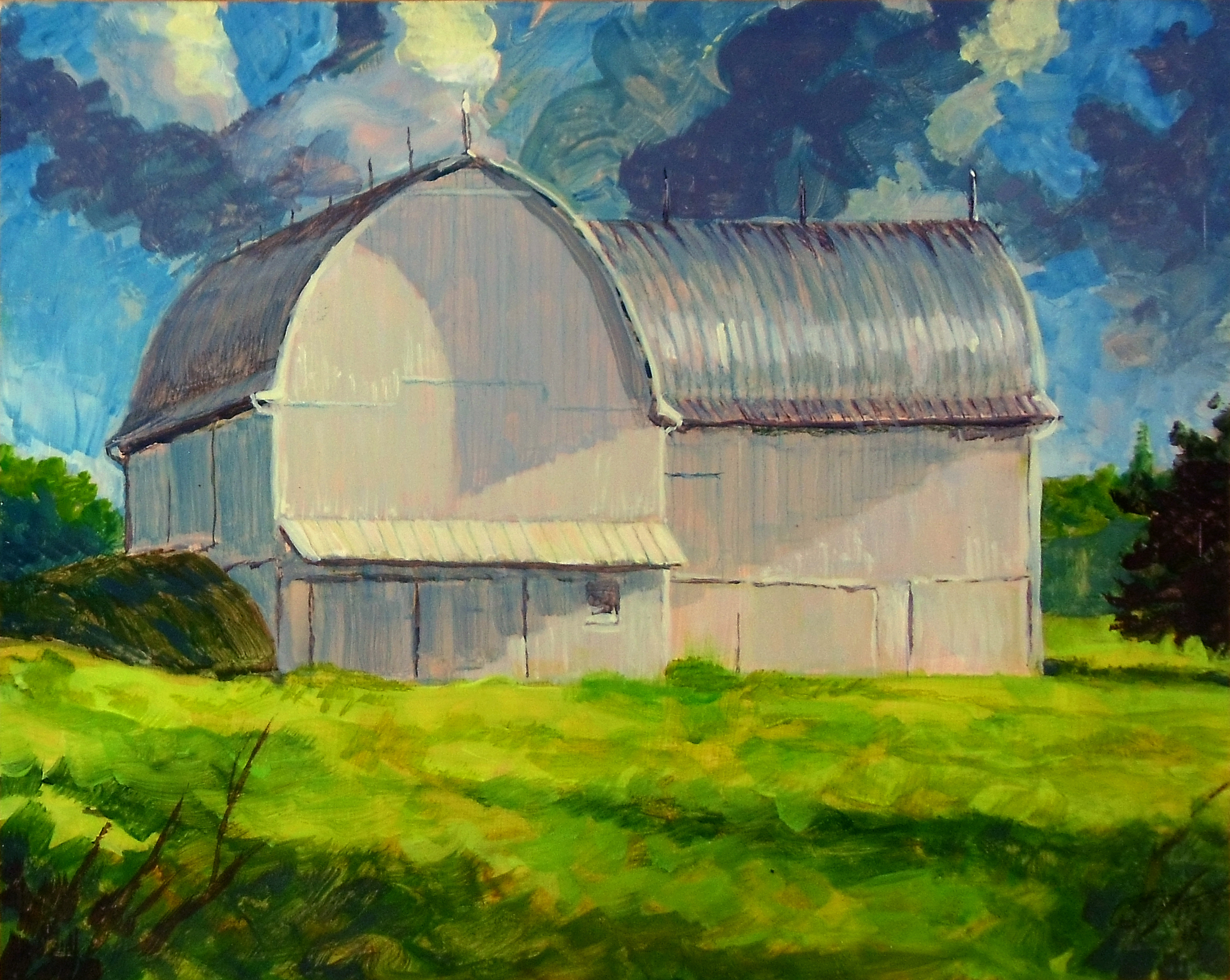 Barn at Freer Field - Early Morning - 2018