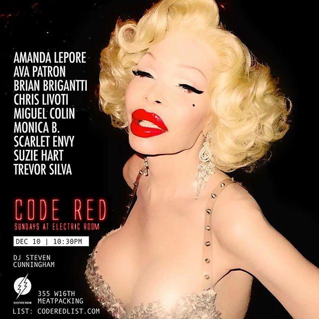 NYC SUNDAY -- @amandalepore hosts @coderednyc // deets and list coderedlist.com