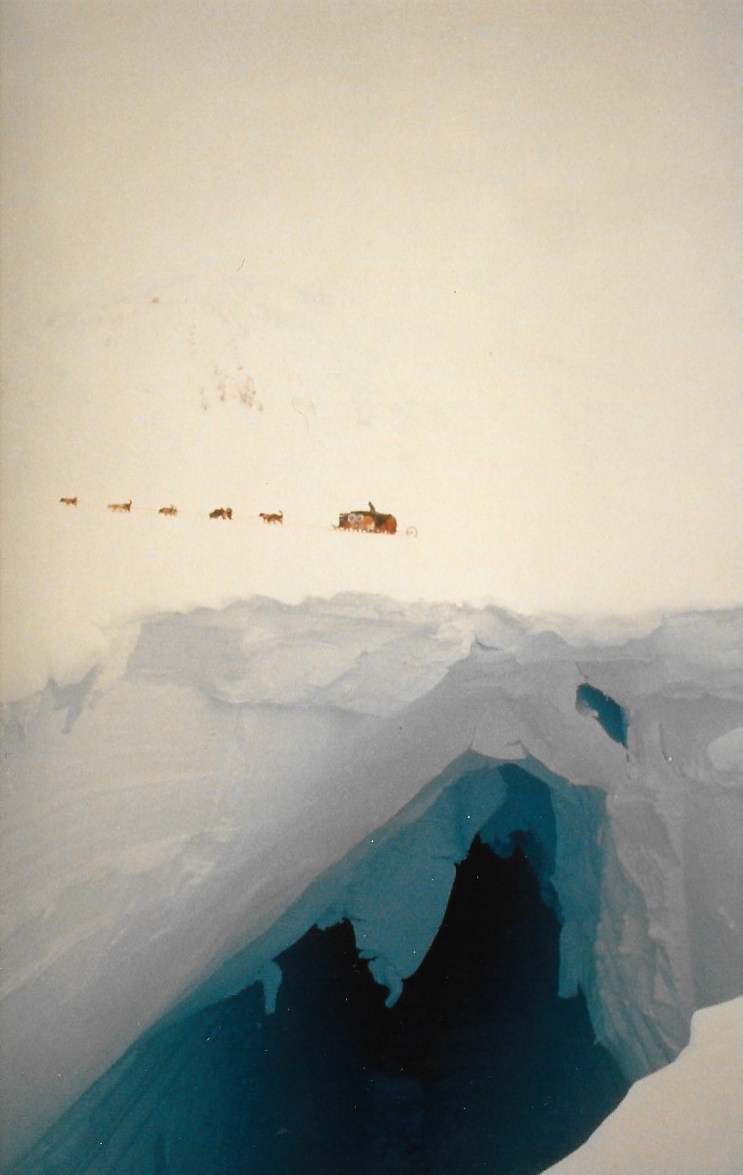 Antarctica is riddled with giant crevasses as deep as 18 stories. Most are hidden on the surface. Photo © Will Steger