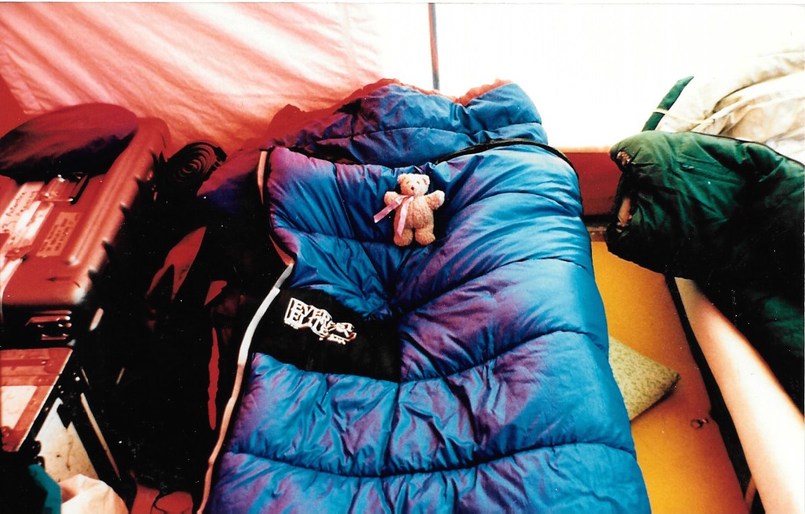 Jacqui's accommodations, Patriot Hills base camp. Photo, Jacqui Banaszynski
