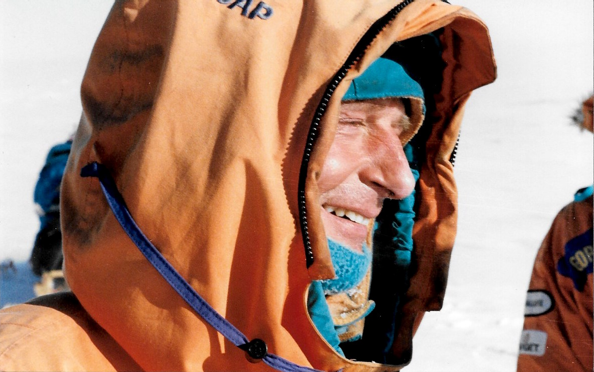 An emotional Jean-Louis Etienne at expedition's end. Photo: Jacqui Banaszynski