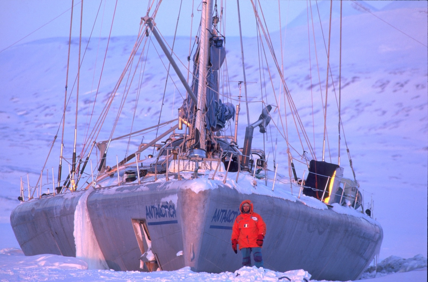 Trans-Antarctica communications ship, built by Jean-Louis Etienne. Photo © Francis Latreille