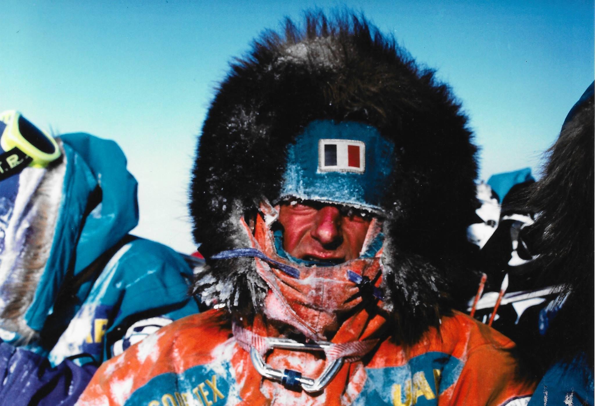 Lean-Louis Etienne on the Trans-Antarctica trail. Photo: Laurent Chevalier