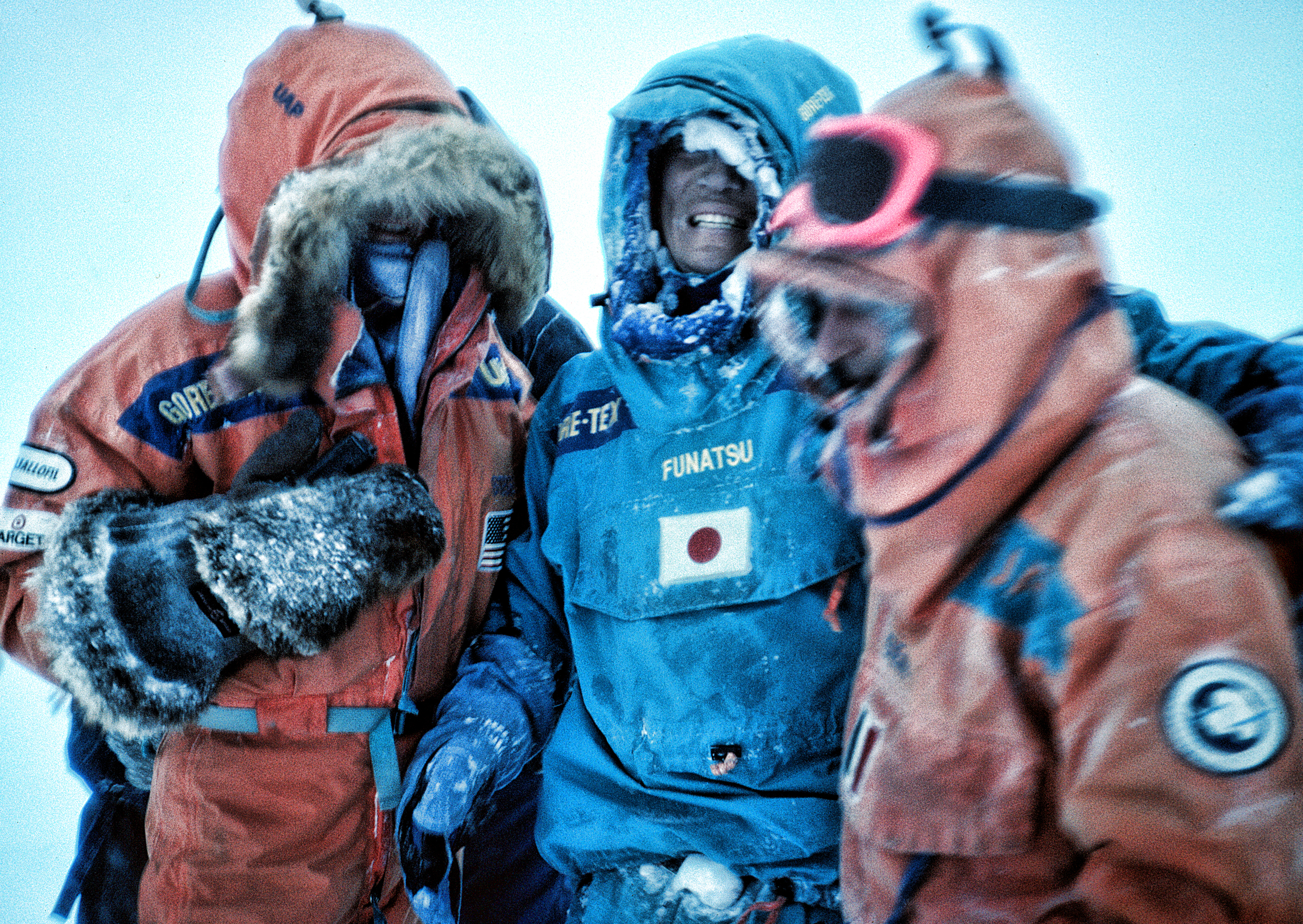 Keizo Funatsu rescue, March 2, 1990.  ©Trans Antarctica, photo by Per Breiehagen