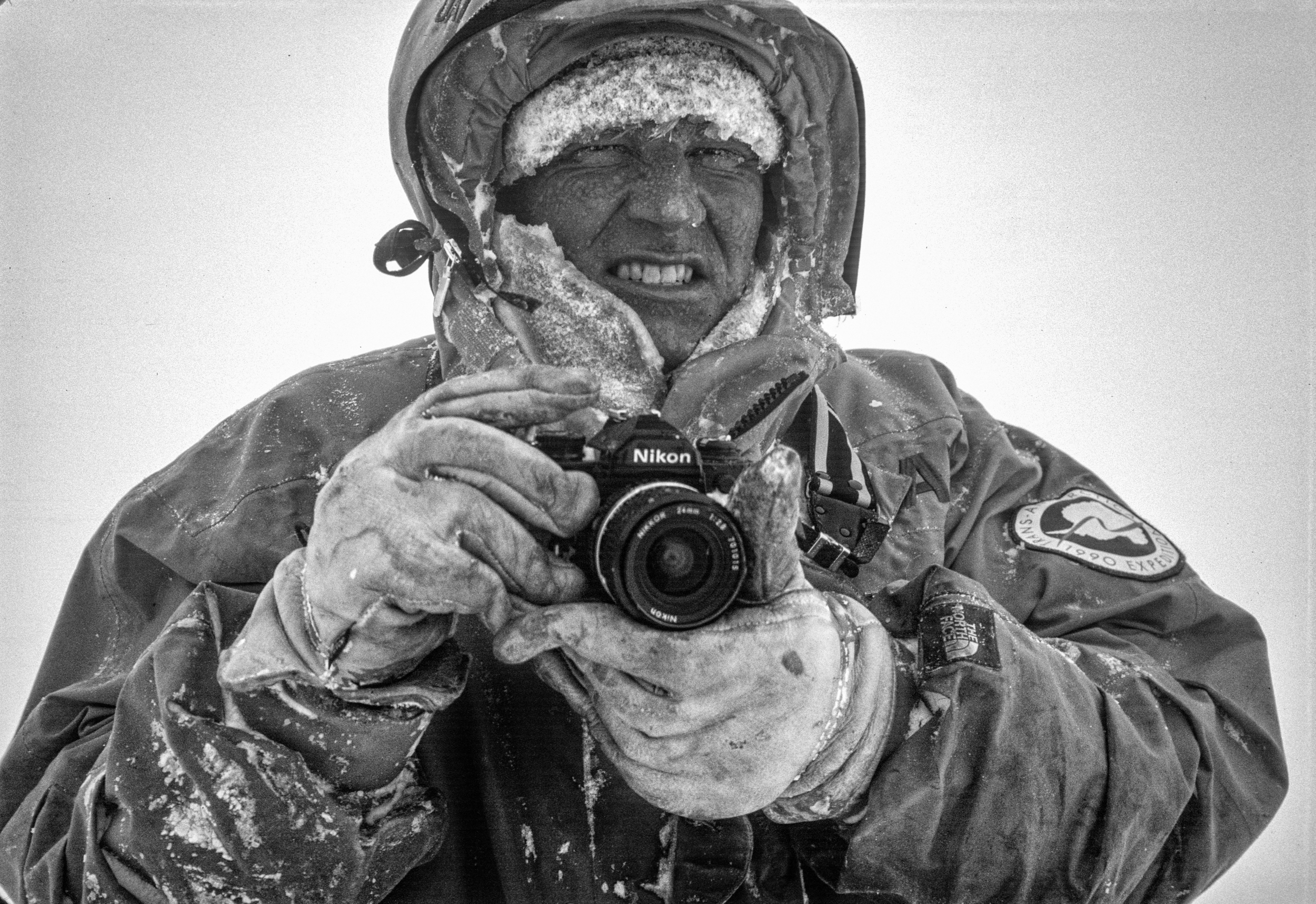 Photographer Per Breiehagen after capturing Keizo's search and rescue on film, March 2, 1990. ©Trans-Antarctica, photo by Per Breiehagen