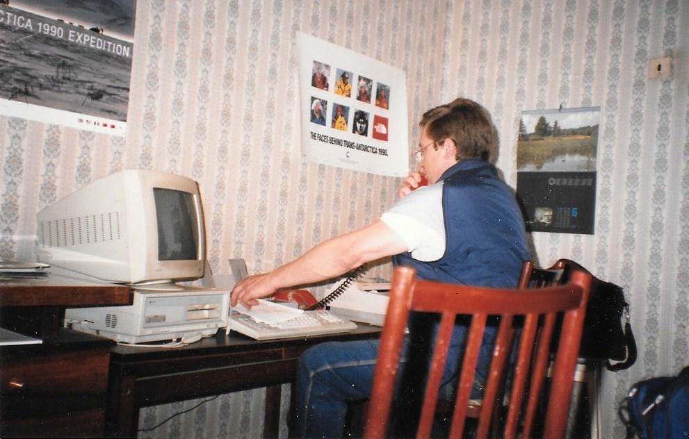 Valery Skatchkov starts a new careeras an entrepreneur. Moscow, June 1990. Photo: Cathy de Moll