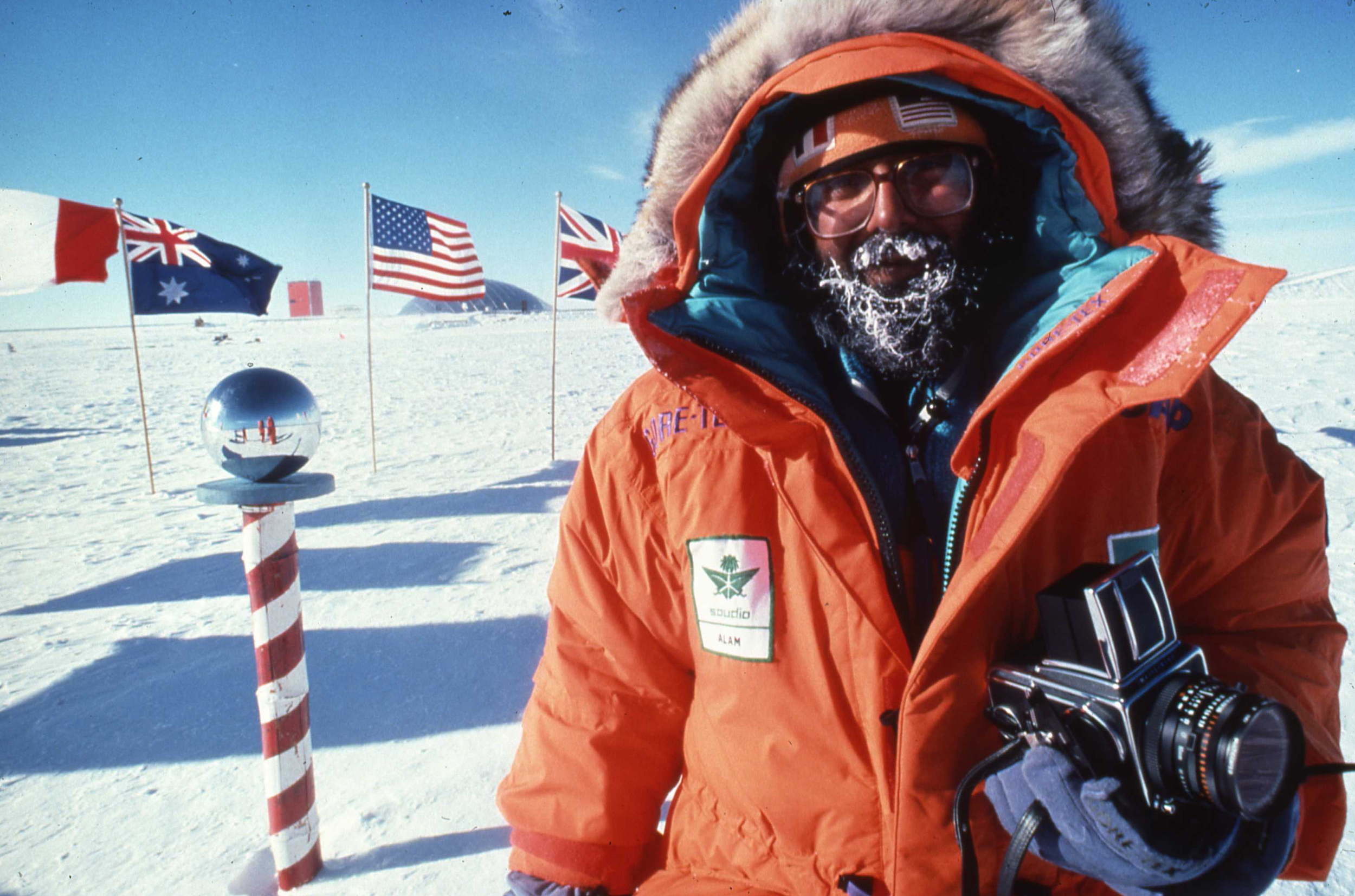 Ibahim Alam, first Saudi Arabian to stand at the South Pole. ©Will Steger by Gordon Wiltsie