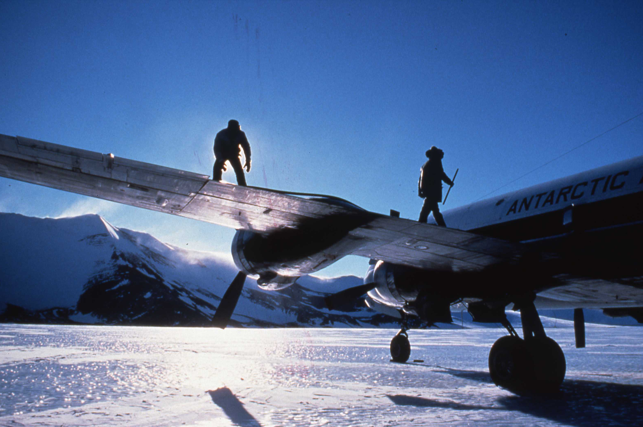 Blue ice runway at the Patriot Hills base camp. ©Will Steger by Gordon Wiltsie