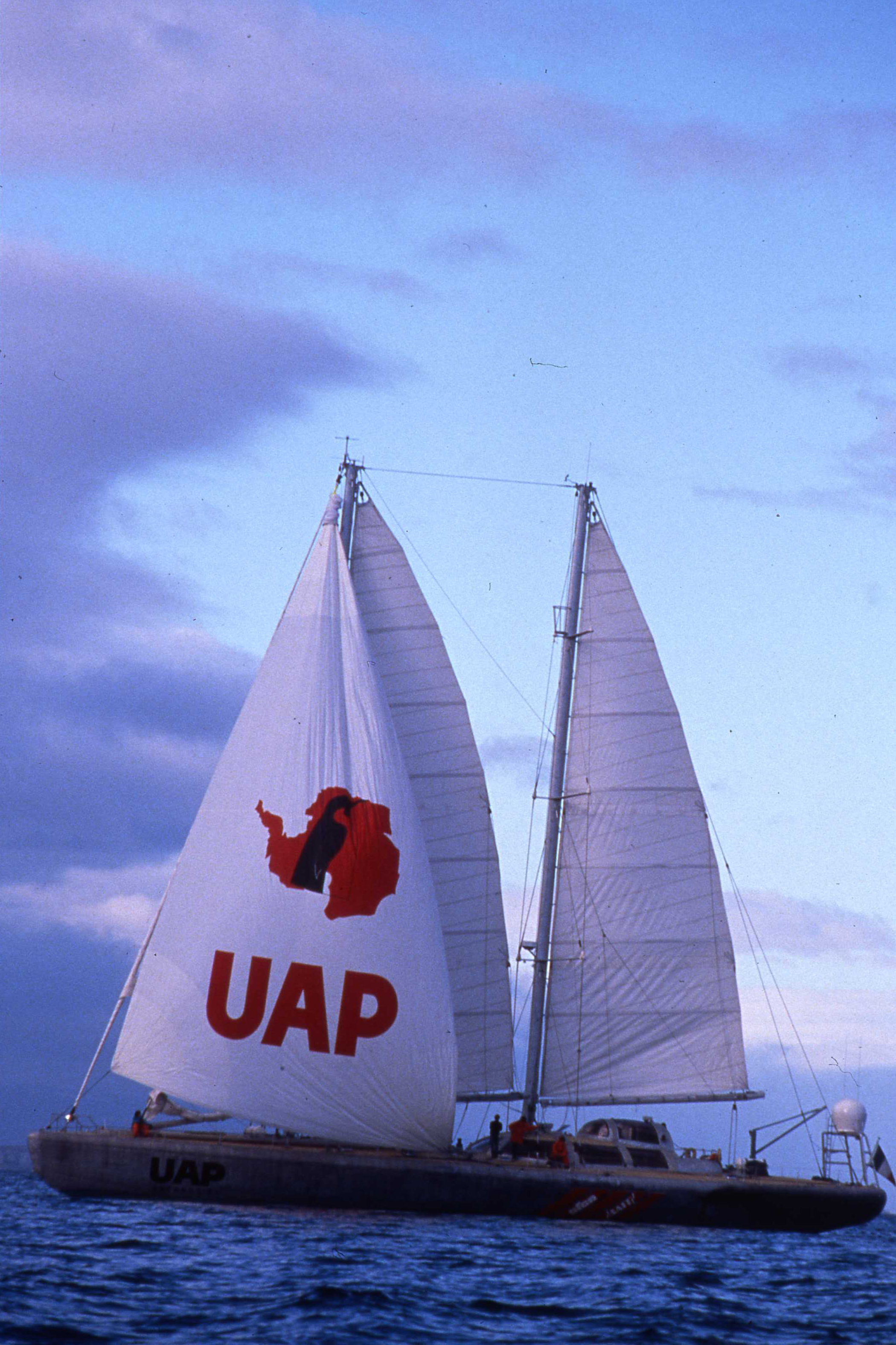 The expedition ship UAP under full sail. ©Will Steger, by Francis Latreille