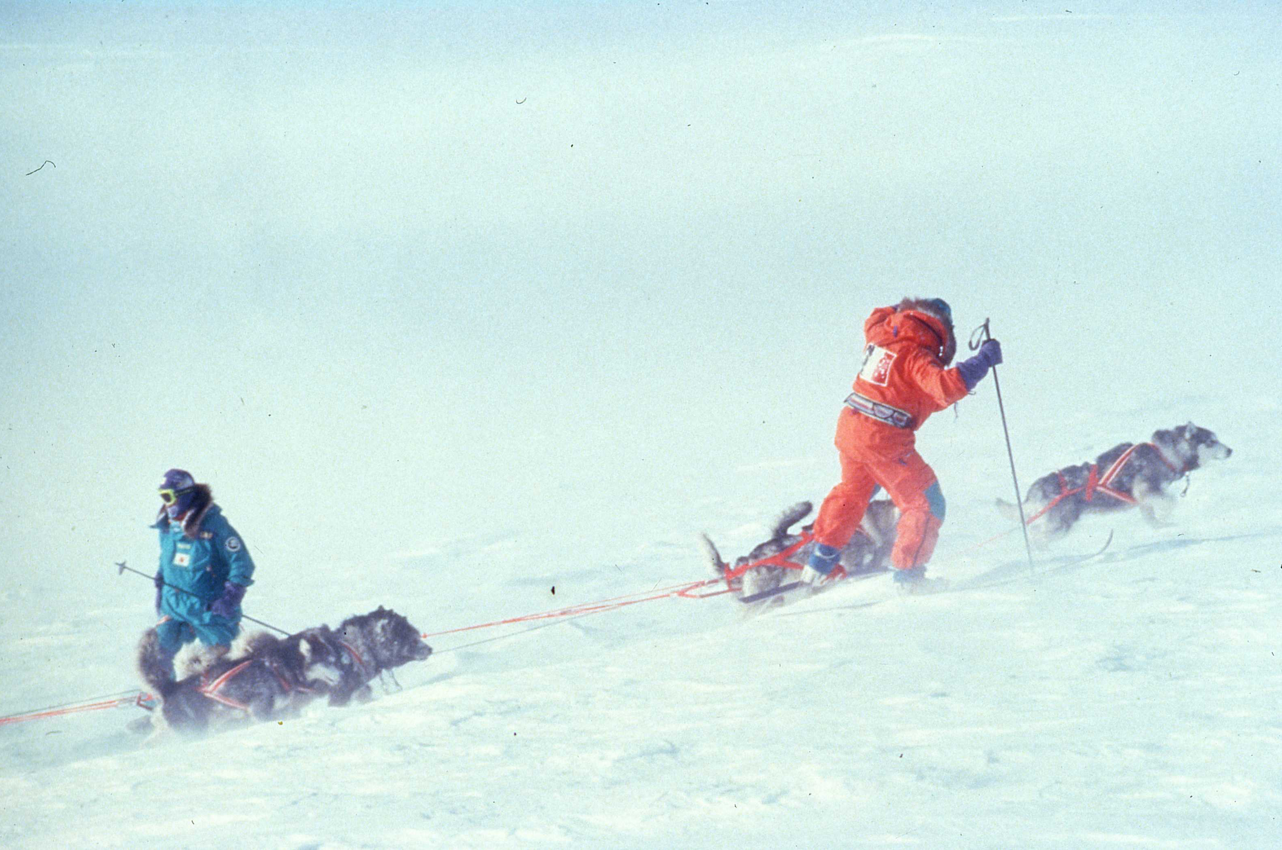 An uphill struggle as the team climbed onto Antarctica's plateau. ©Will Steger by Qin Dahe