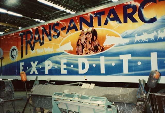Target Stores outfitted a semi trailer truck to be a traveling Trans-Antarctica exhibit, parking at stores around the U.S. Photographer unknown