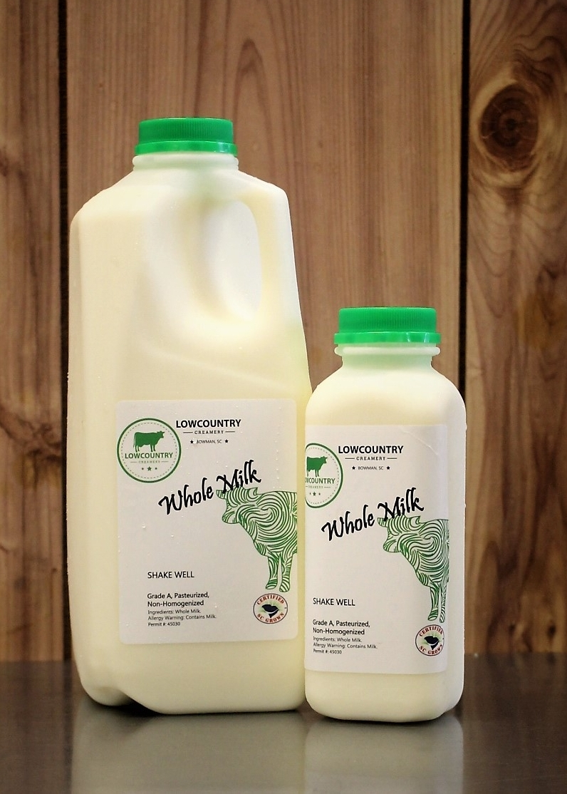 Whole Milk - Our slow pasteurized whole milk is rich and creamy due to the higher butterfat content with just a hint of sweetness from our slow heat, low-temp process.