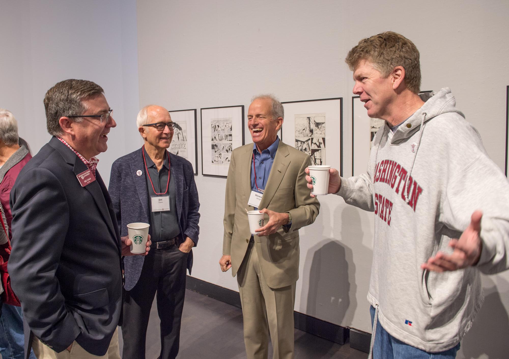 WSU President, Kirk Schulz; Jim Olson, Olson/Kundig; H.S. Wright, III; Mikal Thomsen