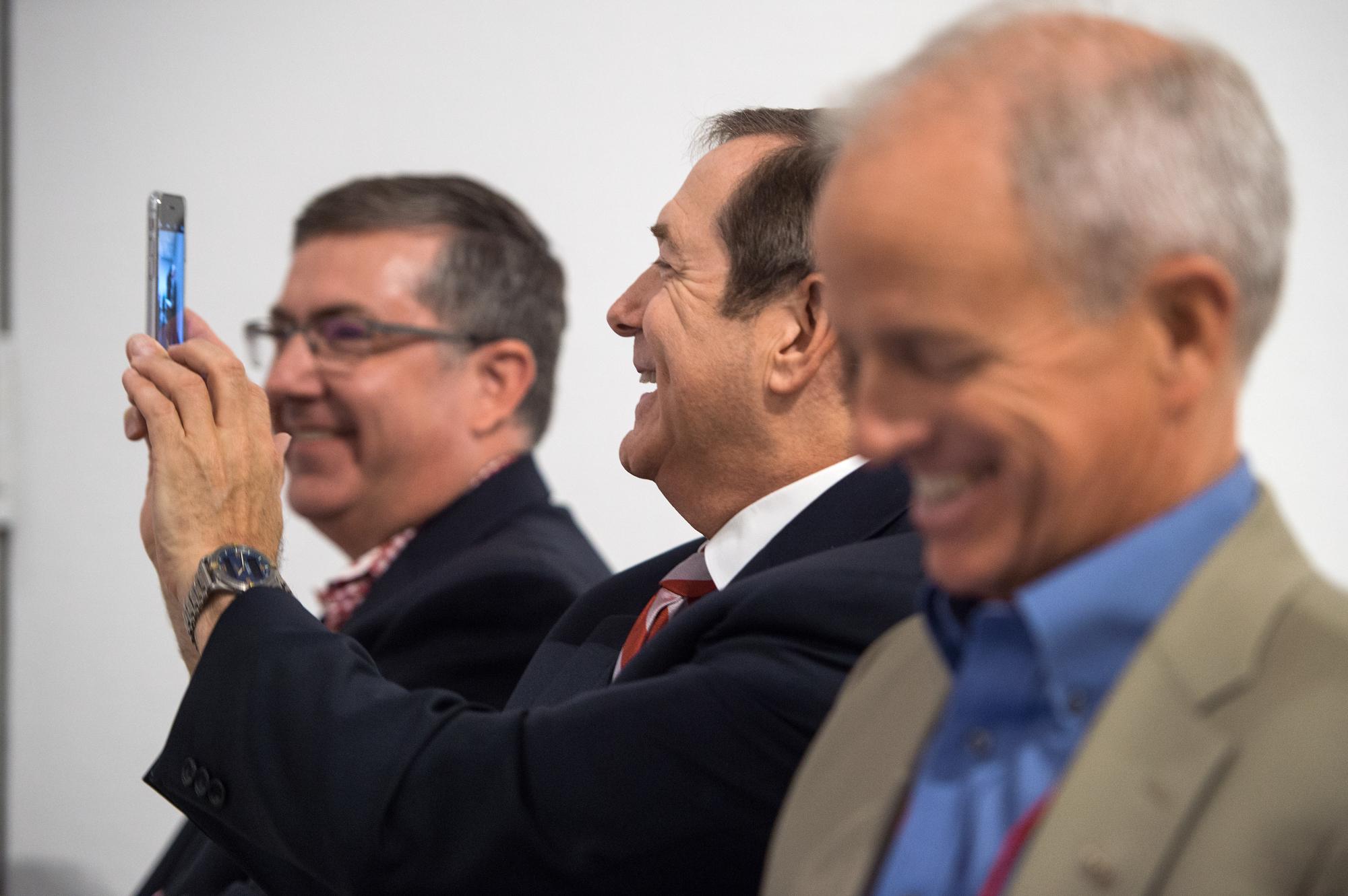 WSU President, Kirk Schulz; Jordan D. Schnitzer, Philanthropist; H.S. Wright, III