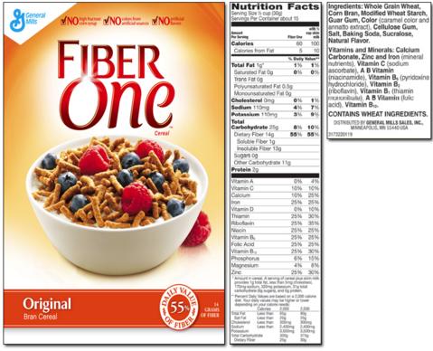 Fiber One cereal .