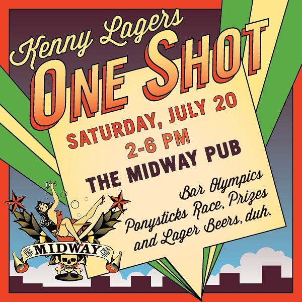 """Come out to @midwaypub on Saturday, July 20th, as we compete against several other breweries and drink a bunch of lagers in a yacht rock-themed """"one shot"""" competition. Pony race, cornhole, bocce, darts, ring on a string + more - only one shot at each! We'll have Ukiyo and Prince of Pilsen flowing + some giveaways. You don't want to miss this. You're going down @allagashbrewing, @beerwildheaven, @bellsbrewery, @cigarcitybrewing, @sierranevada, and @sweetwaterbrew!"""