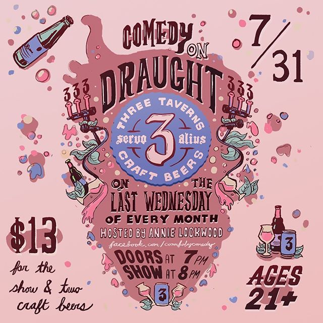 Tomorrow is everyone's favorite Wednesday of the month! Join us for Comedy on Draught as host @annielowo and the some of the southeast's best comics provide the laughs and we provide the beer. Only $13 (includes 2 beers).