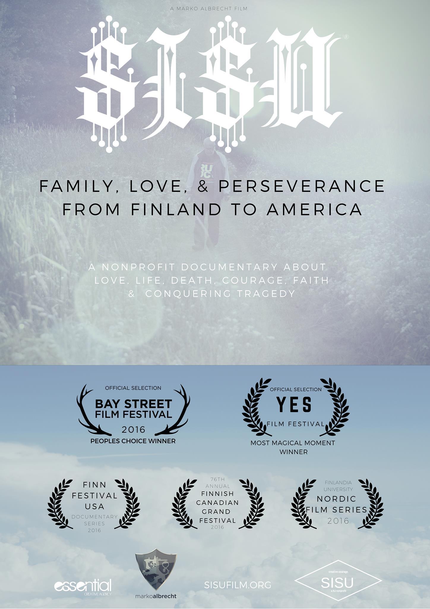 SISU documentary poster 2016. A Marko Albrecht film.