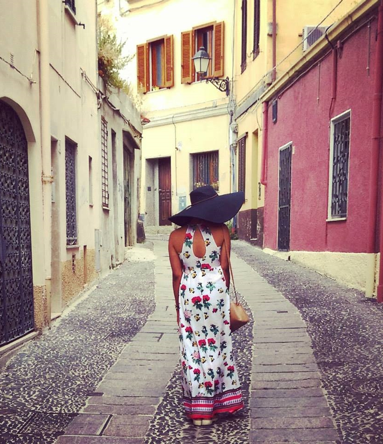 SASSARI- ITALY       FLOPPY HAT & MAXI DRESS- H&M