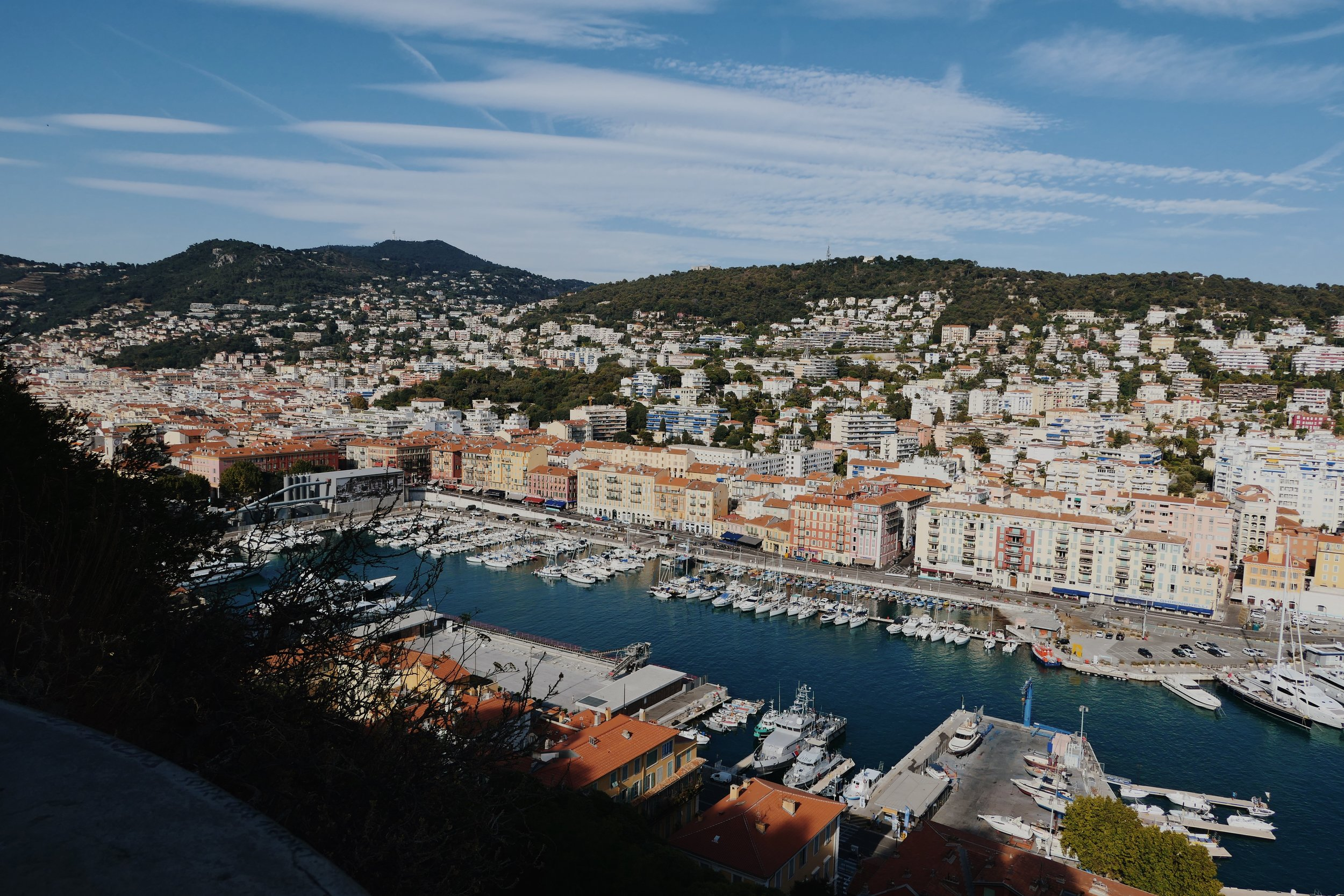 view of the port from parc du chateau