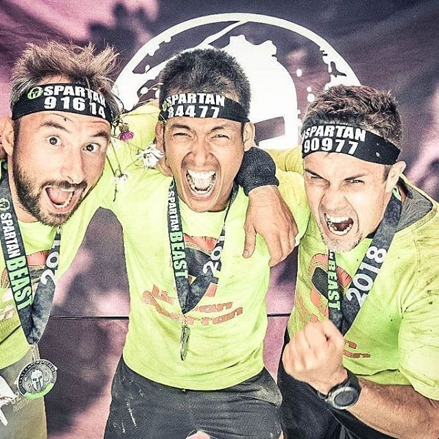 Spartan Race Morzine, a Beast of a team ! #spartanrace #spartanracebeast #urbanspartanteam