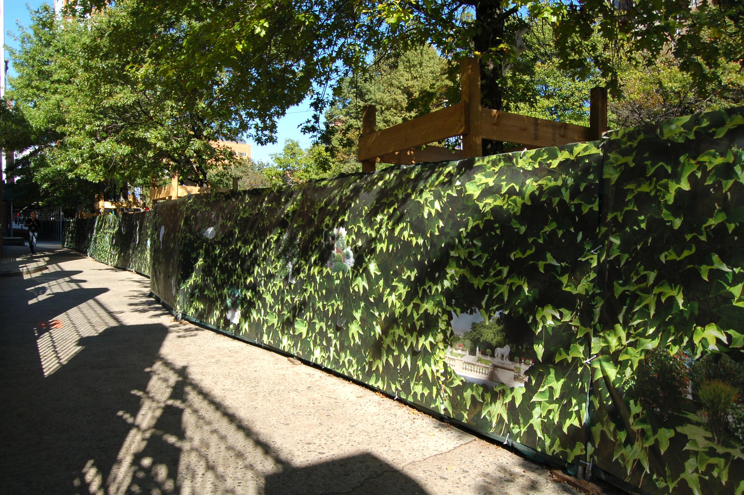 Secret Gardens,Chambers St.NYC,  digitalprint on mesh, 5'x 1000'