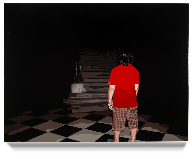 Entry, 45 x 60, Oil Enamel on Canvas