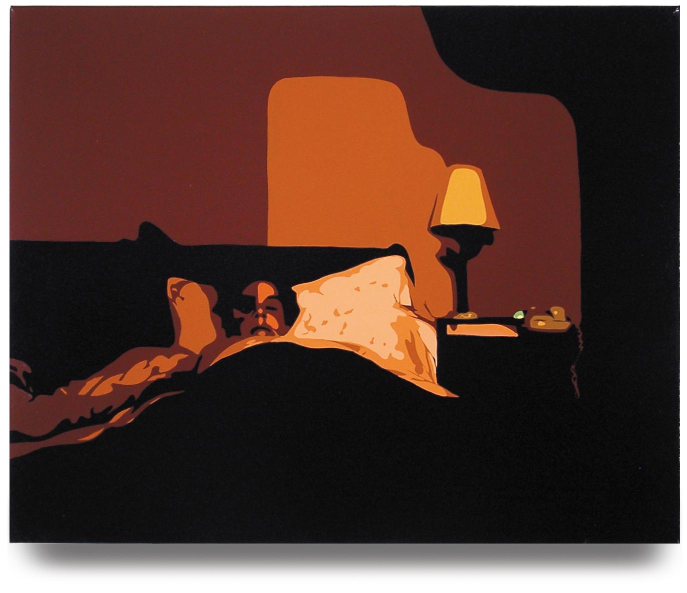 Sleeping Wife  , 24x 30, Oil enamel on canvas