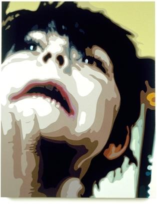 Matthew, 30 x 24  , Oil enamel on canvas