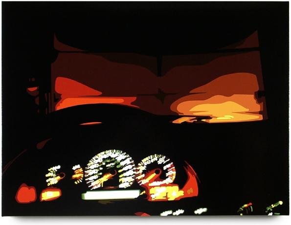 Dashboard  , 32  x 43  , oil enamel on canvas