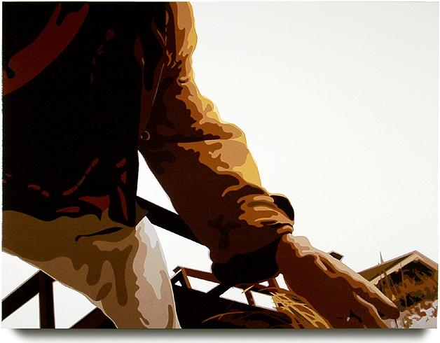 Dune  , 32  x 43  , oil enamel on canvas