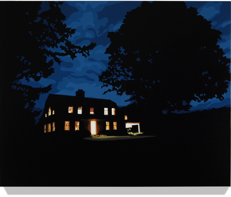 House at Night III (Washington, CT)  2014, 32 x 40, Oil on Linen