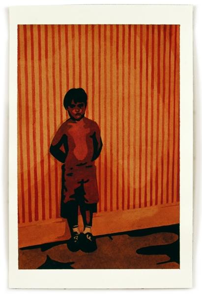 Boy, 12 x 8, watercolor on paper
