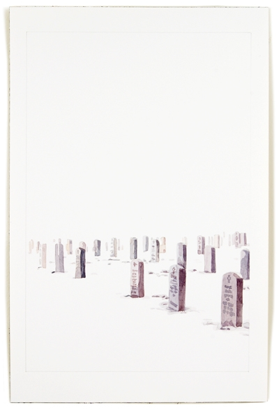 Cemetery, 12 x 8, watercolor on paper