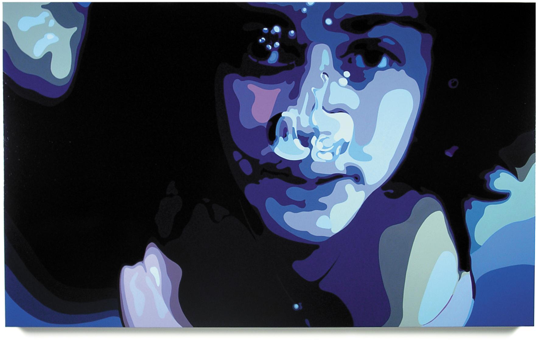 Untitled (woman) , 47x 77, oil enamel on canvas
