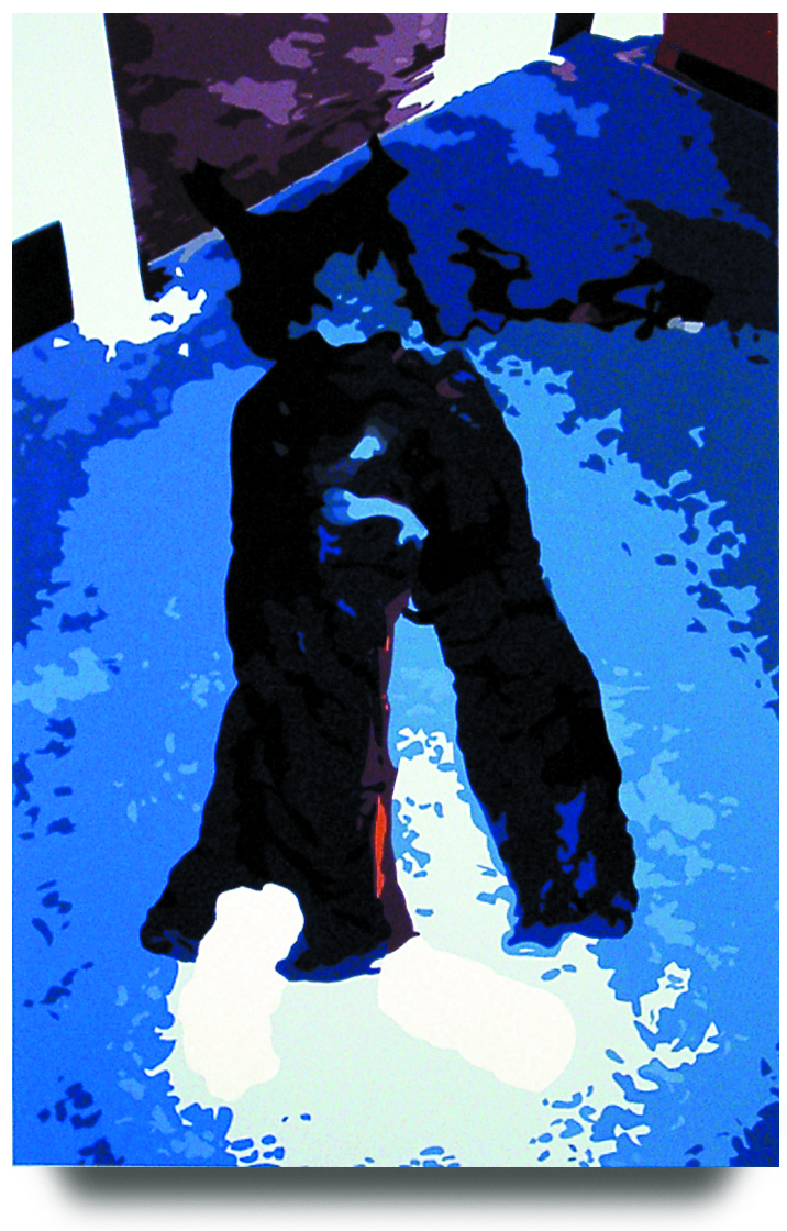 From the Sunday Times,   2002, 23 x 15.25, Oil Enamel on Resin Paper
