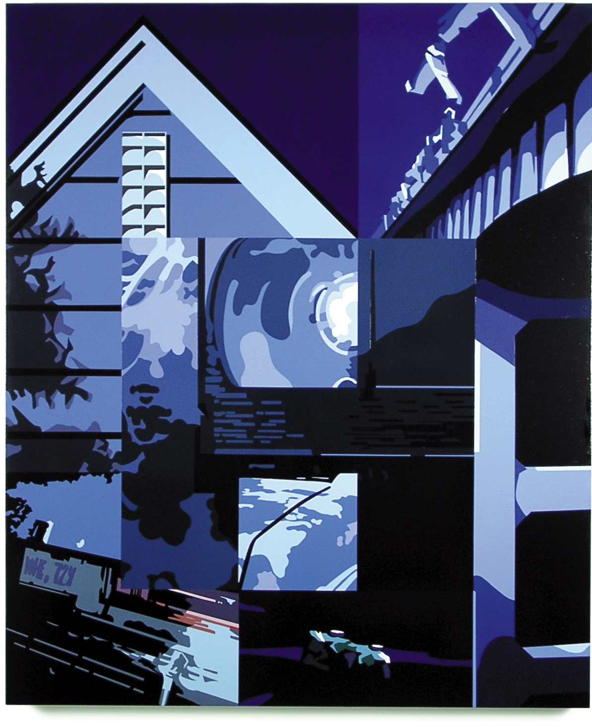 Moonlight Sonata,   2001, 57 x 47.5, Oil Enamel on Canvas