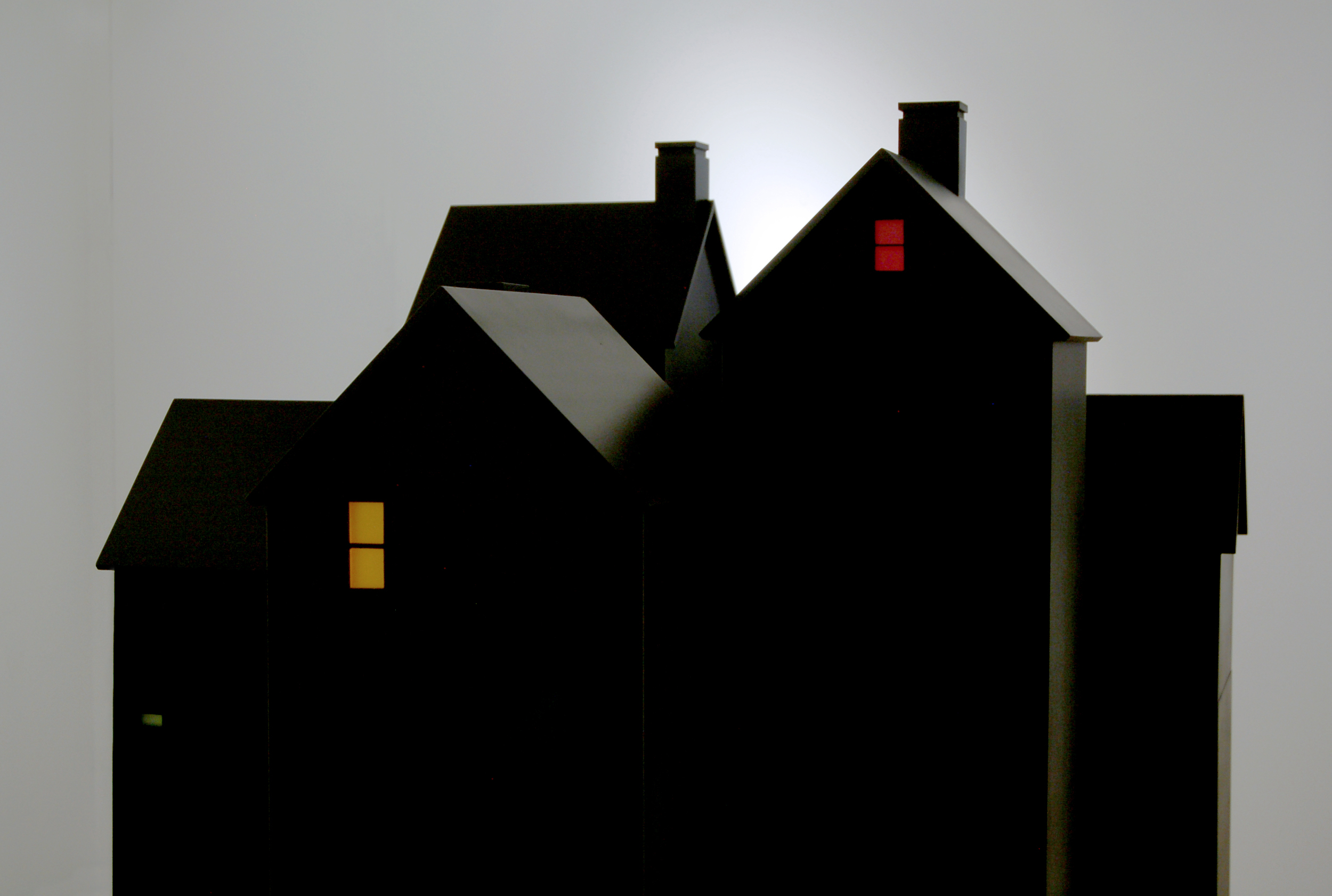 Houses at Night , Installation View