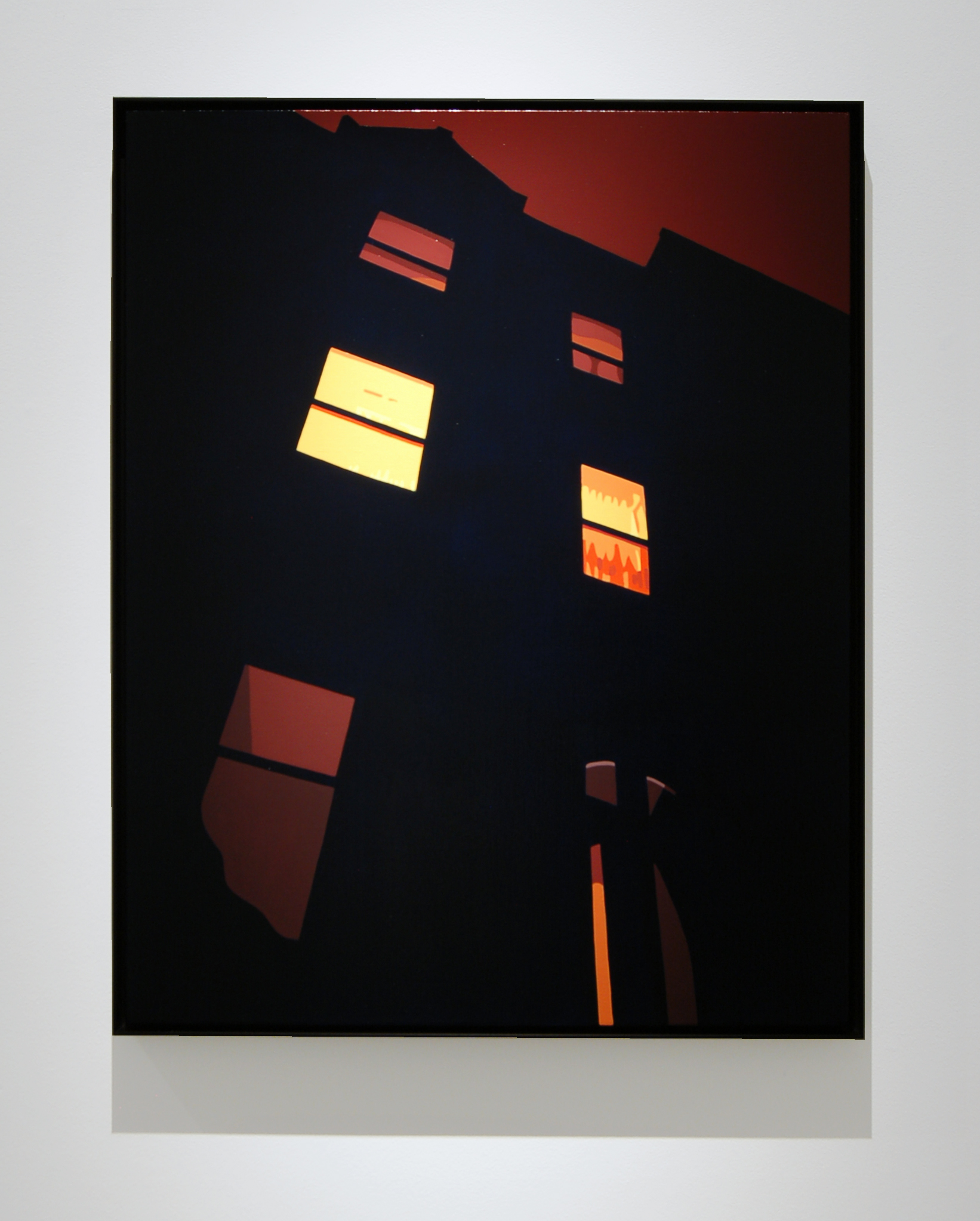 House at Night (Brownstone)