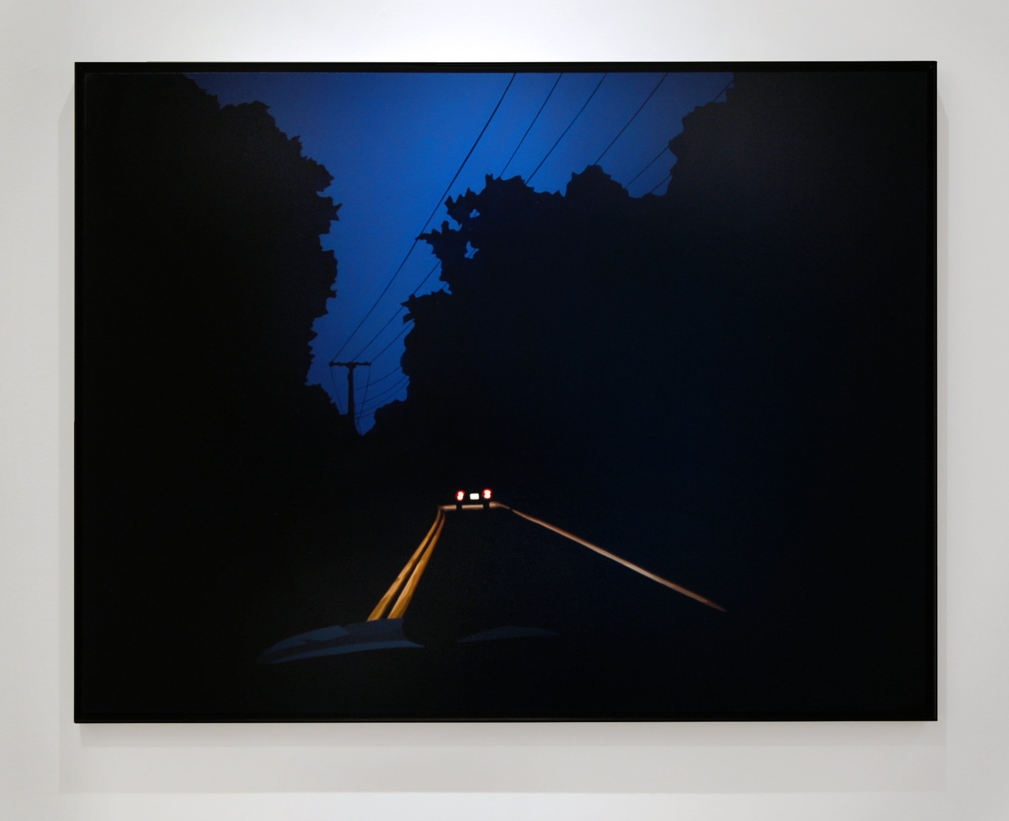 "Night Drive,  2015, 36"" x 48"", Oil on Canvas"