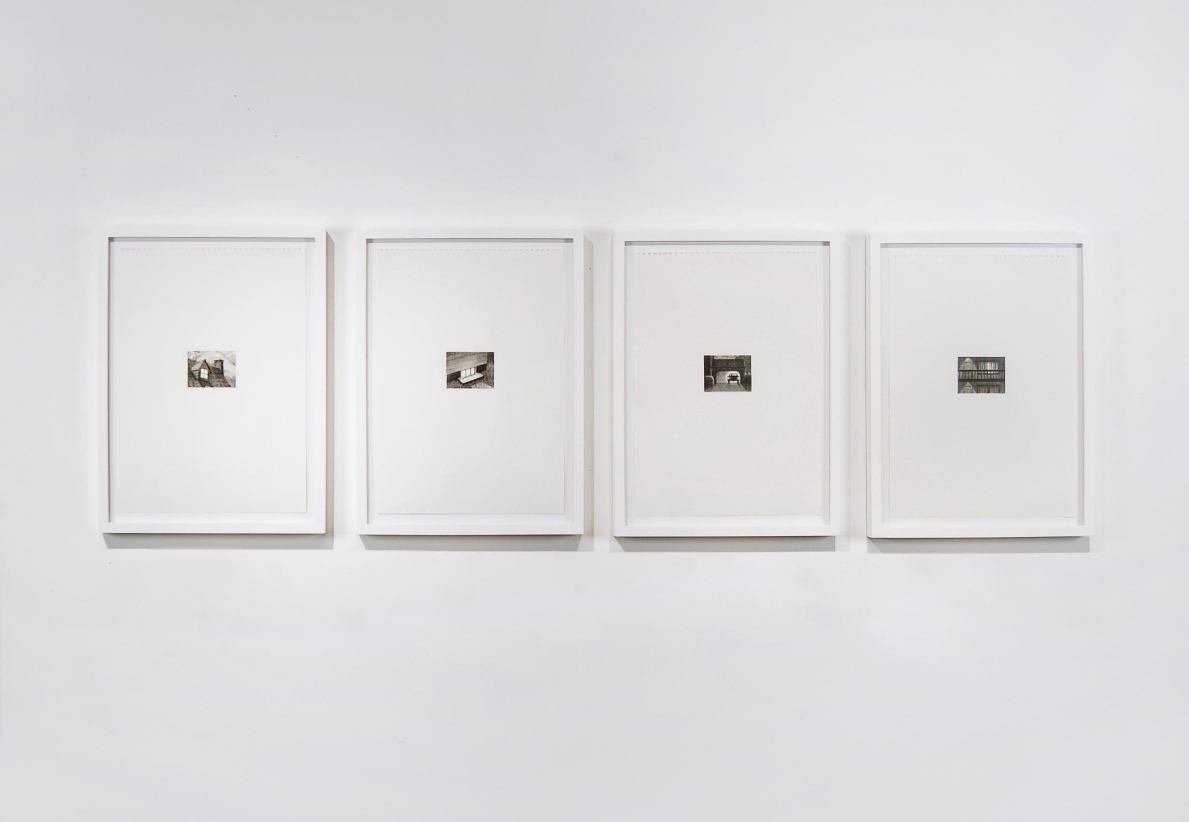 "Secrets,  2013/2014, 2.5"" x 3"" (image), 11.5"" x 16"" (paper), Graphite on Paper"